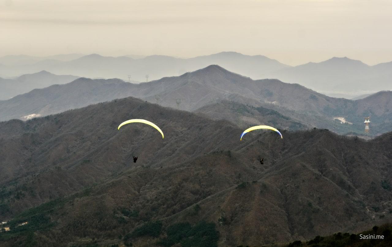 تجربة الطيران الشراعي في كوريا الجنوبية