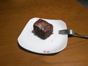 قطعة صغيرة من الكيكة اللذيذة
